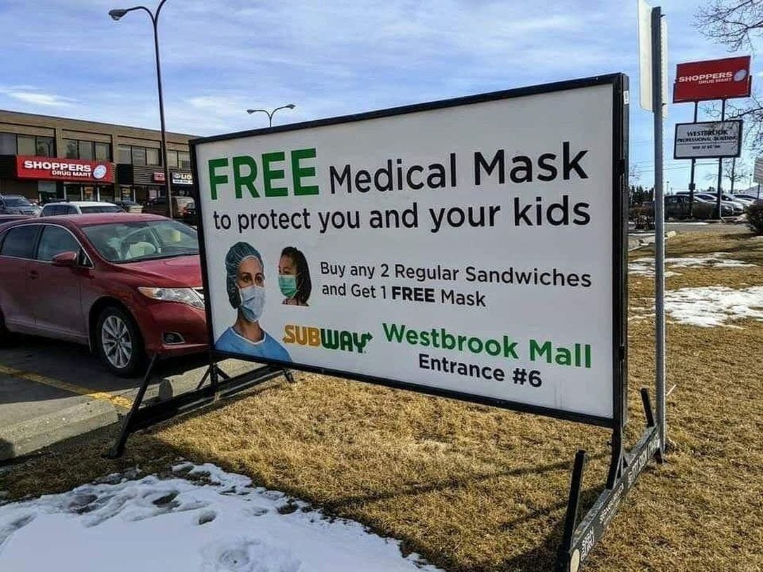 Subway shop owner tries to explain coronavirus medical-mask ...