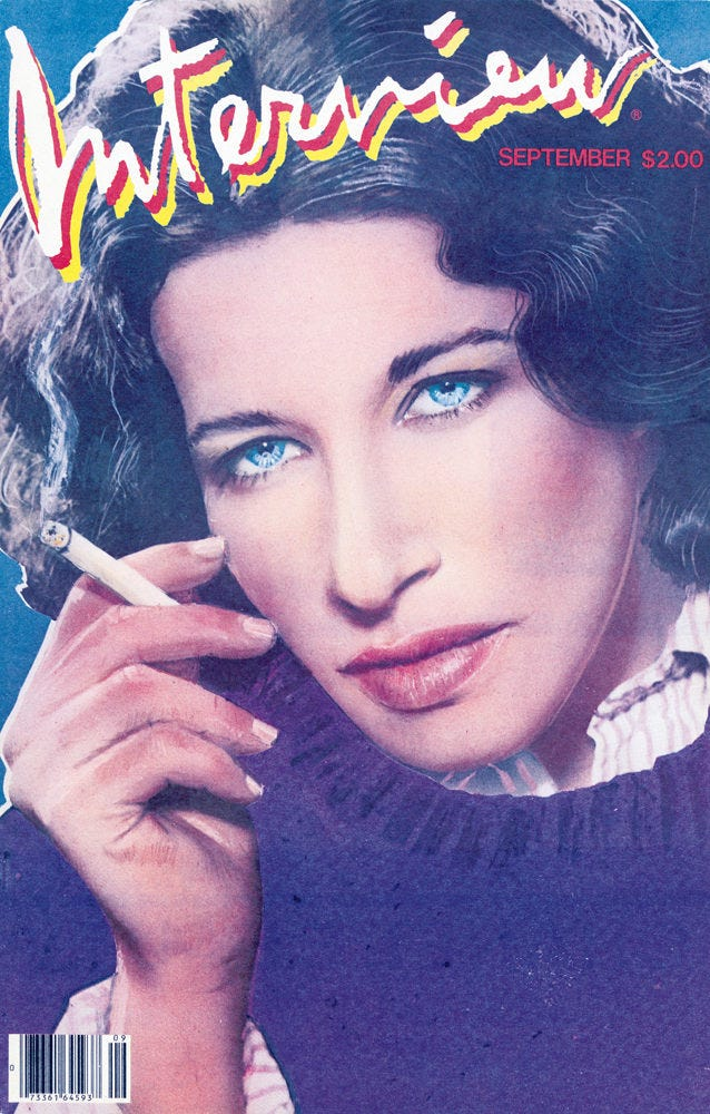 Image result for interview magazine fran lebowitz
