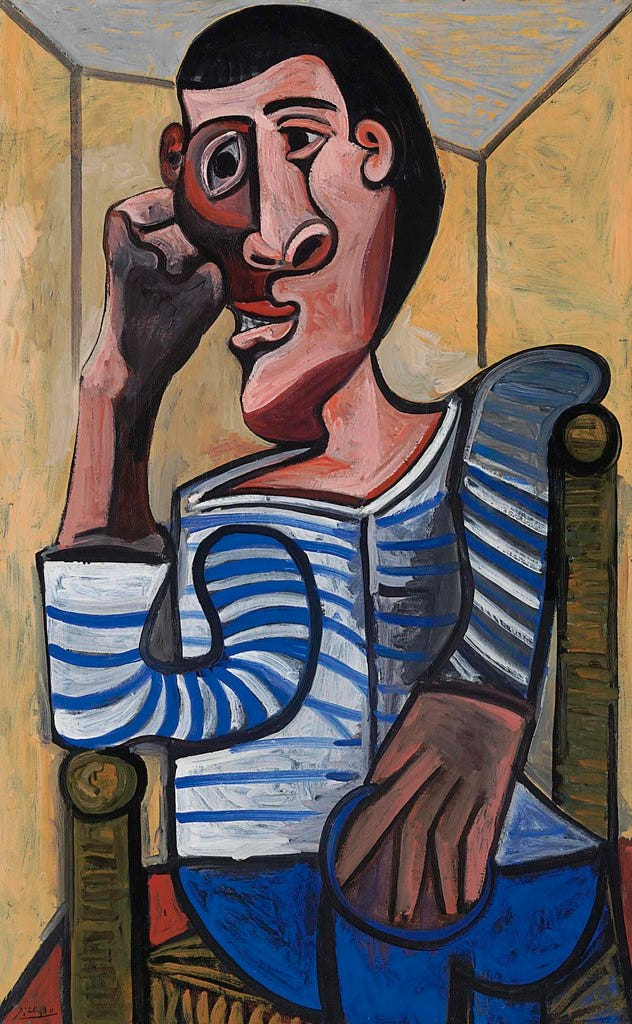 Pablo Picasso - The Sailor [1943] | A master of self-project… | Flickr