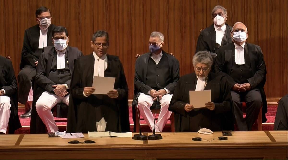 In a first, nine new Supreme Court judges take oath   India News,The Indian  Express
