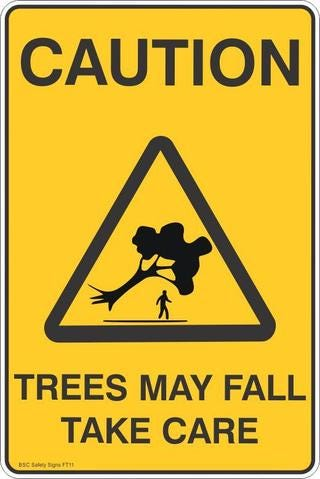 Caution Trees May Fall Take Care Safety Signs and Stickers