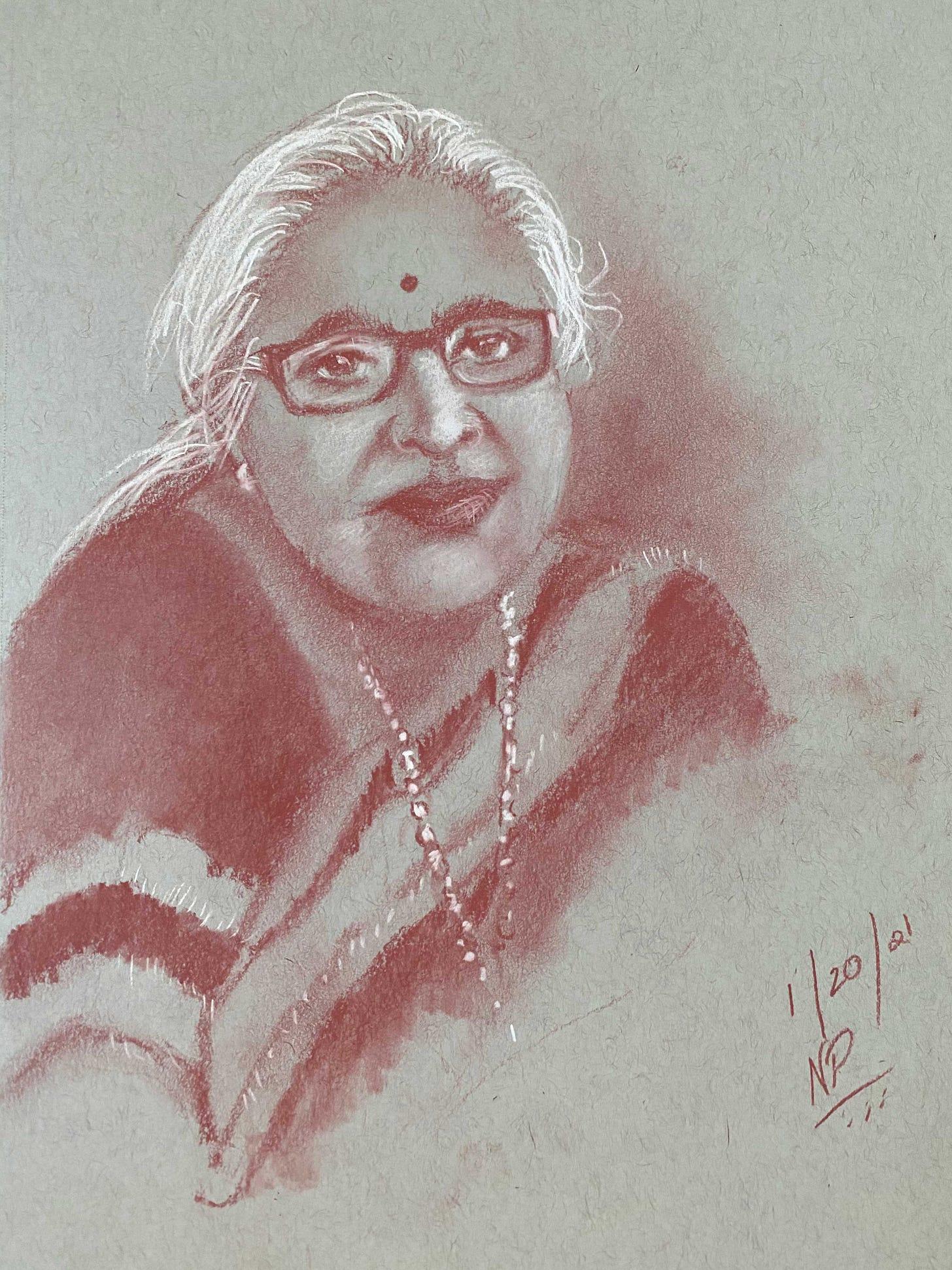 Artwork of Ambulu Paati, by Nina Panu