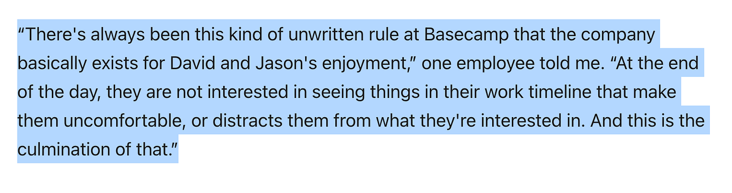 Quote in Platformer article about Jason and David at Basecamp