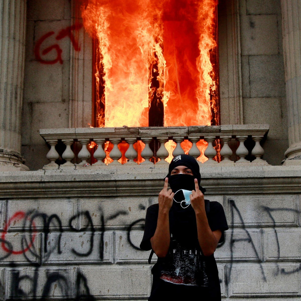 Guatemala protesters set congress on fire during budget protests | World  news | The Guardian