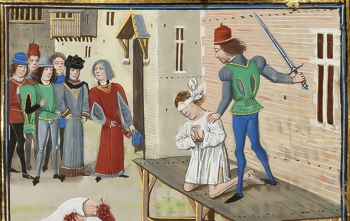 medieval public beheading