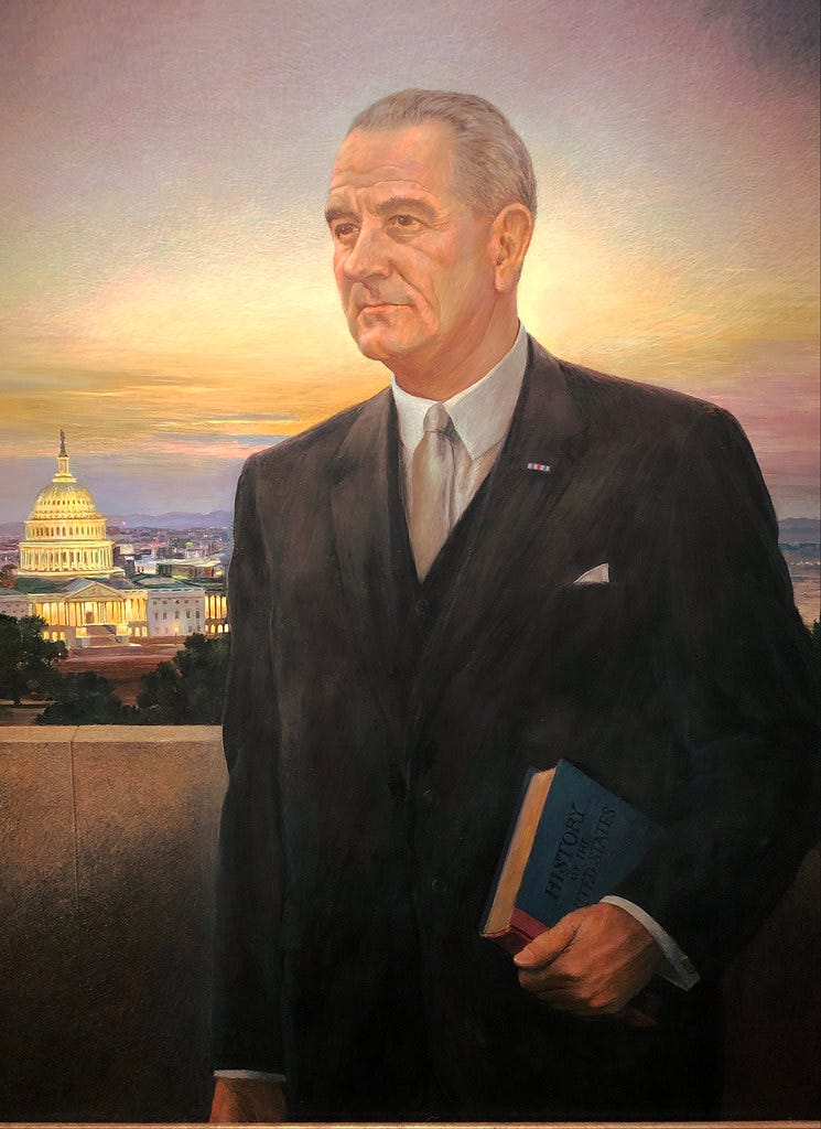 """""""Lyndon Johnson (1963-69)"""" by Ross Dunn is licensed under CC BY-SA 2.0"""