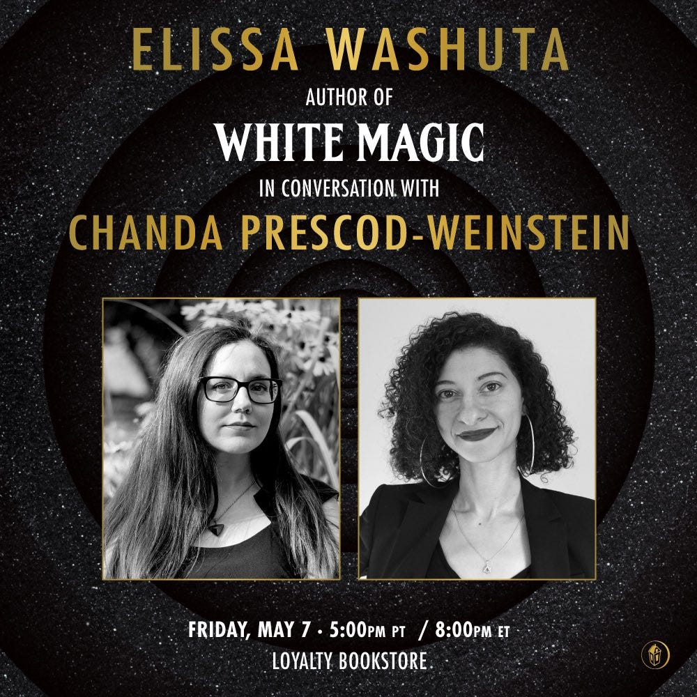 event info for the event with Elissa Washuta. Click on the link for readable details. Photos of both authors.