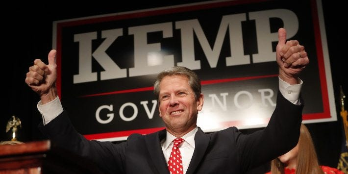 """Georgia governor-elect Brian Kemp said his administration would be seen as """"incredibly competent, obviously diverse and clearly committed to doing the right thing."""""""