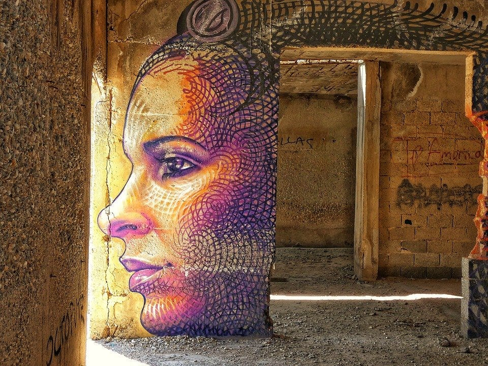Lost Place, Ruin, Graffiti, Wall, Naxos, Greece