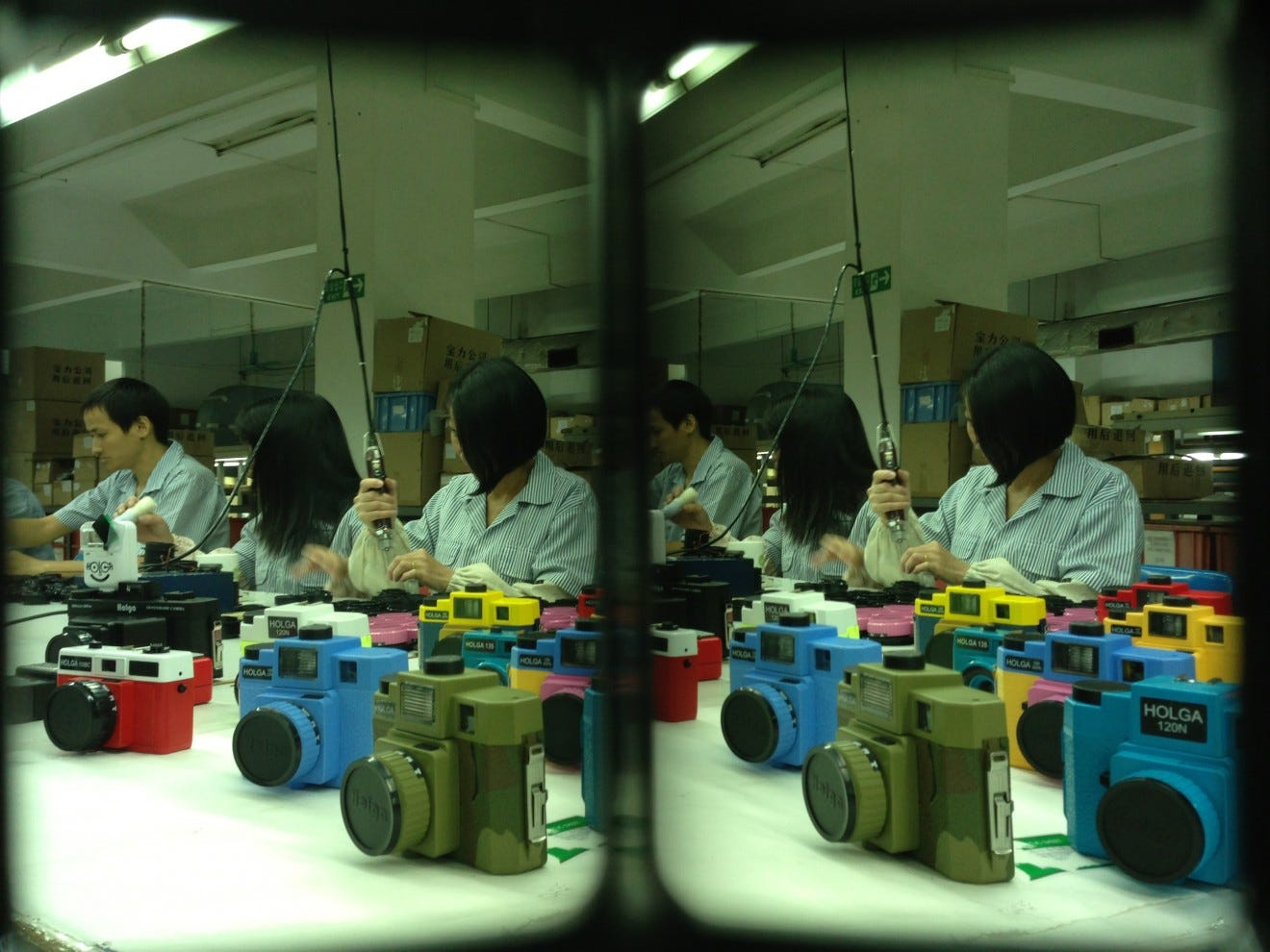 The now-closed Holga factory in Guangdong Province, China.