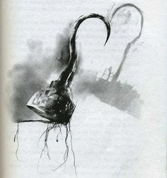 The original Stephen Gammell illustration from Scary Stories to Tell in the Dark. I can't believe they replaced this.