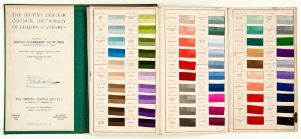 The British Colour Council dictionary of colour standards - Museum ...