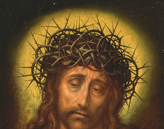 Painting of Christ as the Man of Sorrows