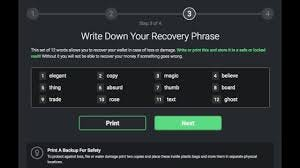 Exodus - Your 12-word phrase is your private keys all...