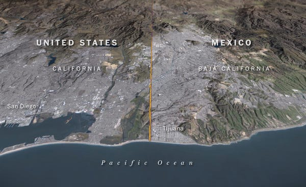 An interactive look at the barriers that divide the US and Mexico