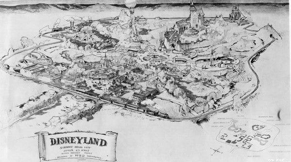 early walt disney theme park