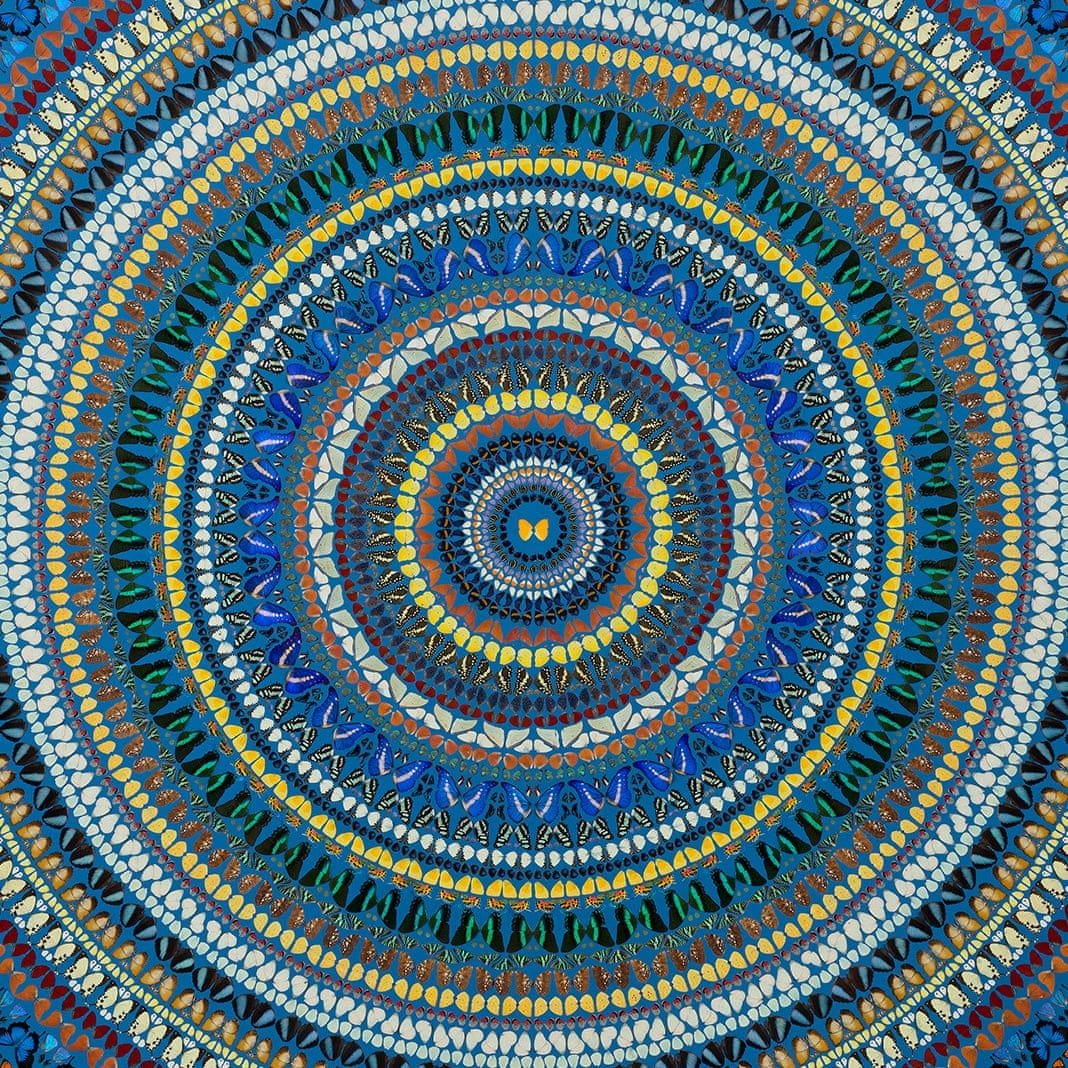 Damien Hirst flutters round the cosmos on butterfly wings – Mandalas review  | Art | The Guardian