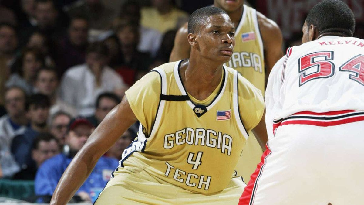 """NBA Canada on Twitter: """"College at Georgia Tech, drafted 4th overall by the  @raptors, 2 NBA championships with the @MiamiHEAT... take a look back at  Chris Bosh's career to-date! ➡️ https://t.co/bFe1hQHC9L…  https://t.co/7e0KaAJEPG"""""""