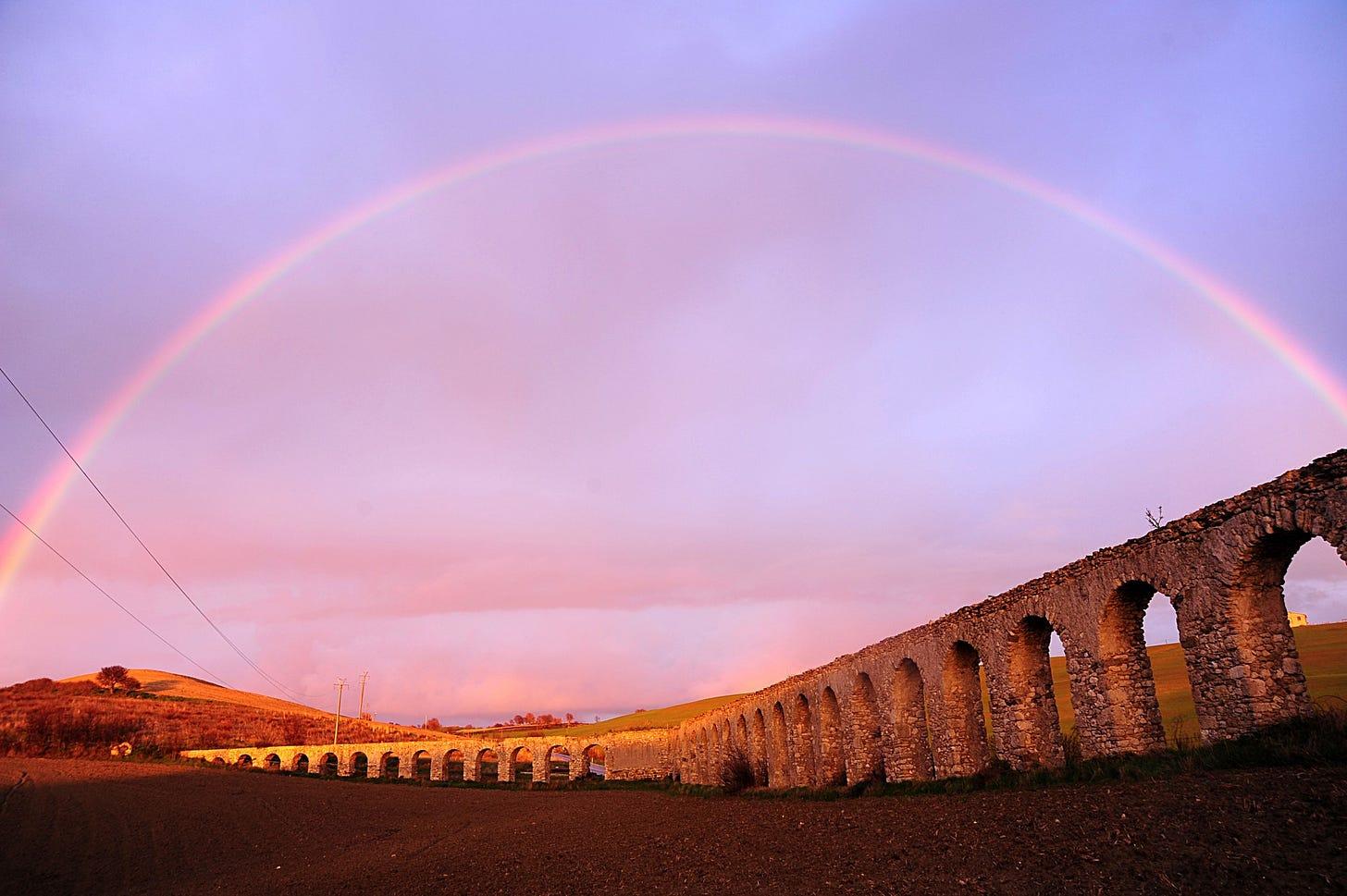 View of Roman Aqueduct at Monte Romano, Italy, Jan. 16, 2018