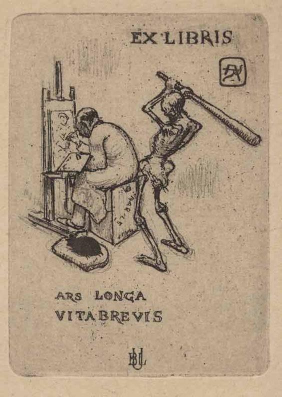"ASSertive discipline: ""Armand Rassenfosse, Ars longa, vita brevis, 1919 """