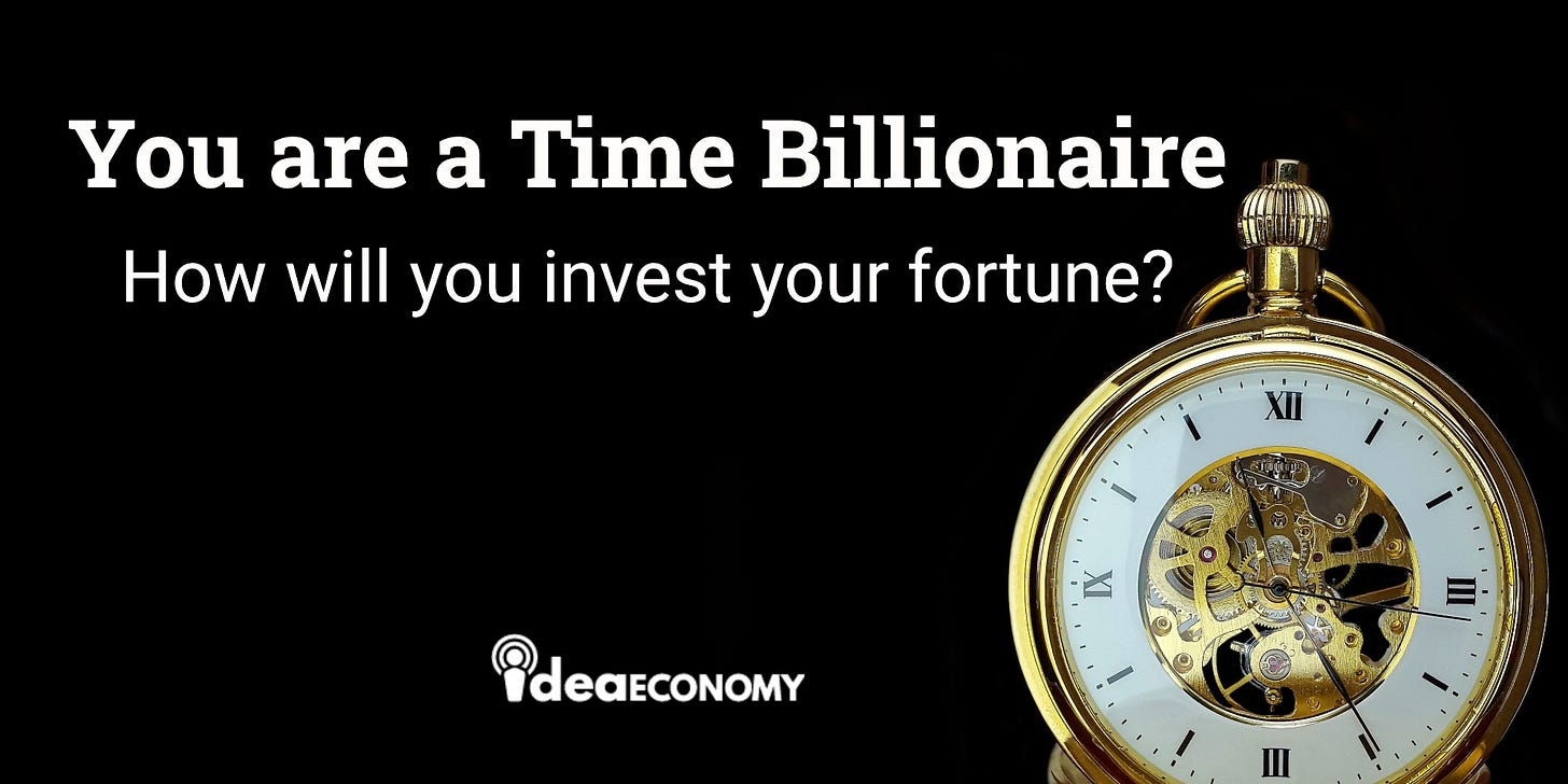You Are a Time Billionaire!. Anthony Pompliano shares an important… | by  John Bardos | Medium