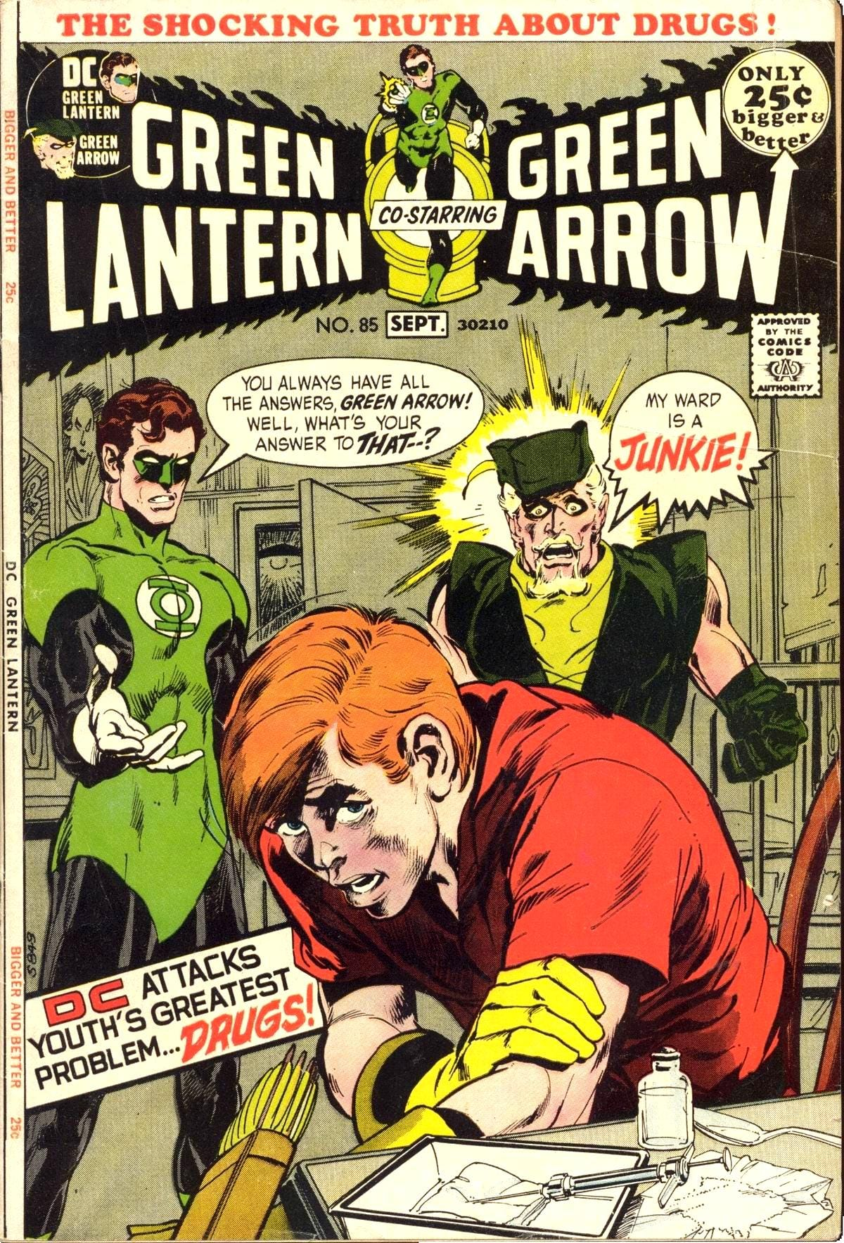 Image result for green lantern green arrow hard traveling heroes