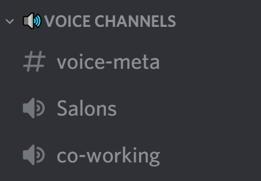 Voice channels on Discord