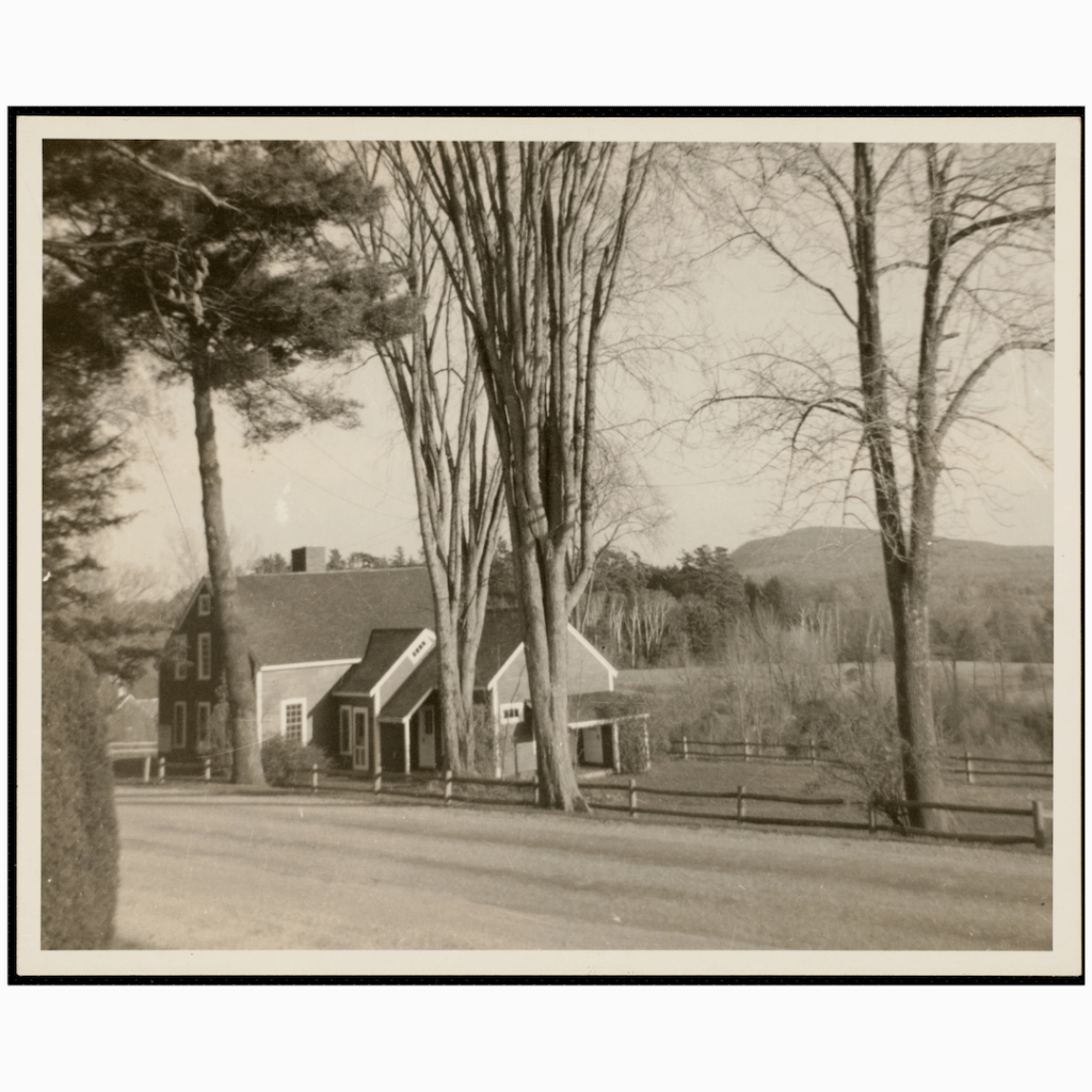 """replica of Nathaniel Hawthorne's """"little red house"""""""