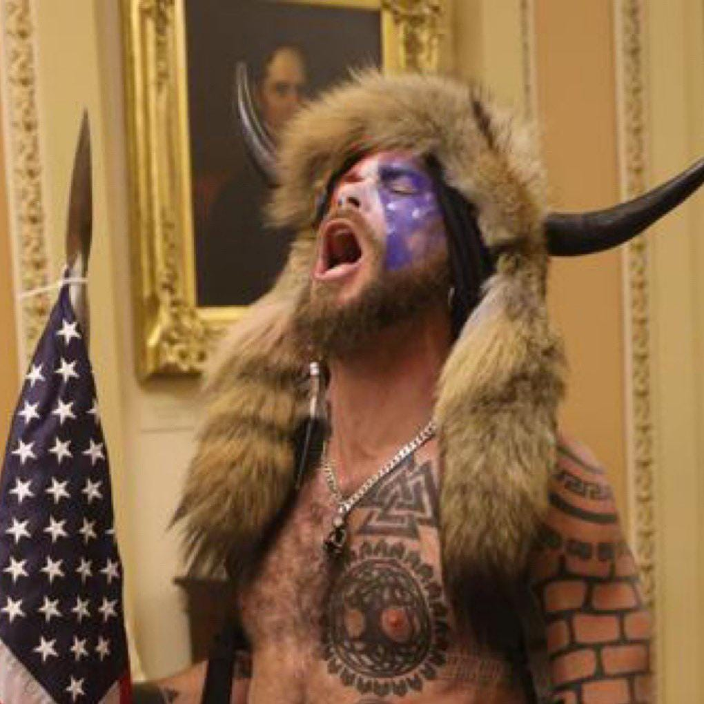"WHERE IS PENCE, SHOW YOURSELF!"" Shouted the Q shaman in Senate : neoliberal"