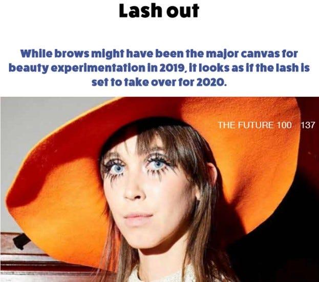 Lash trend