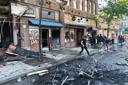 Destruction of property qualifies as violence