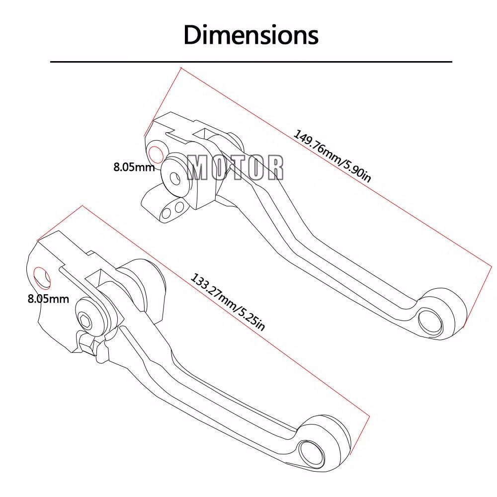 Motorcycle CNC Pivot Brake Clutch Lever For YAMAHA YZ80 YZ85 YZ 80 YZ 85 2001-2014 YZ80 YZ85 2015 2016 YZ125 YZ250 2001-2007
