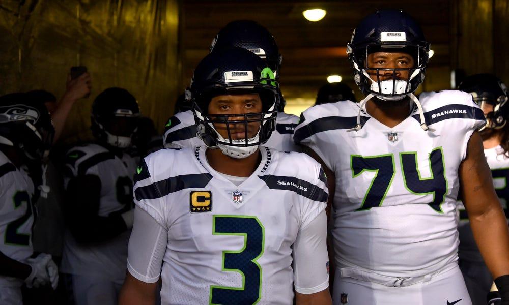 Russell Wilson appreciates Seahawks' lineman George Fant's versatility