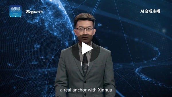 Xinhua's first English AI anchor makes debut - YouTube