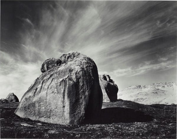 ANSEL ADAMS (1902–1984), Rocks and Clouds, Sierra Nevada Foothills,  California, 1938 | Christie's