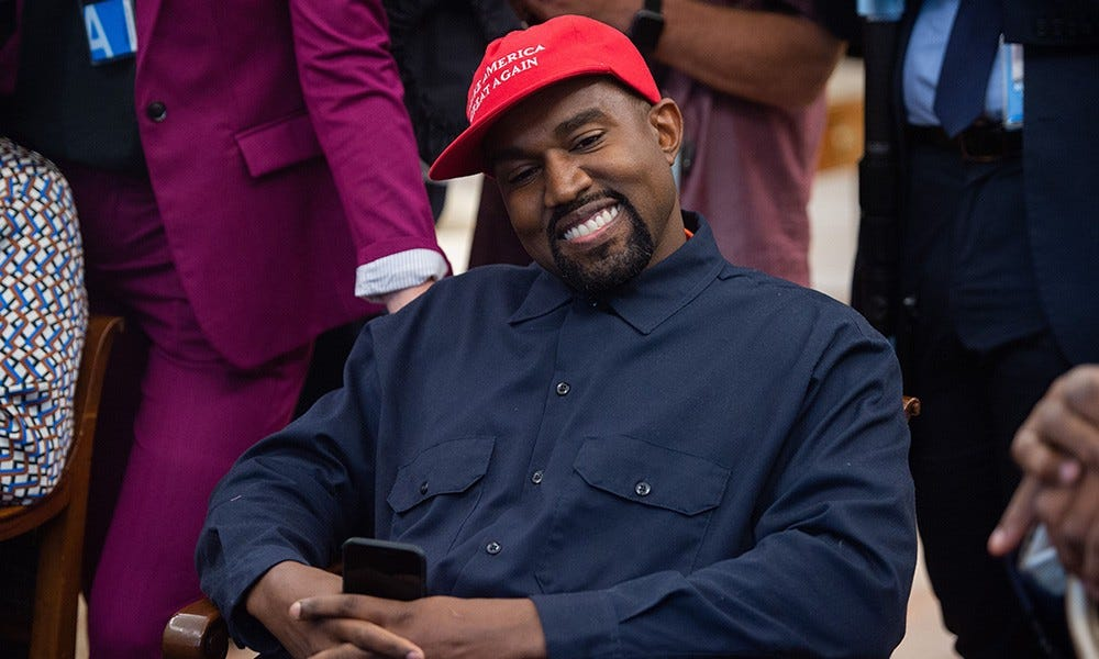 Kanye West Re-Embraces Trump & His MAGA Hat in New Year Tweets