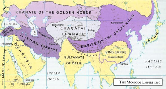 Map - Mongol Empire 1260