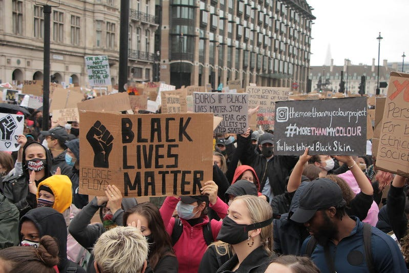 Black Lives Matter rally in London, Flickr photo by Socialist Appeal // CC2.0