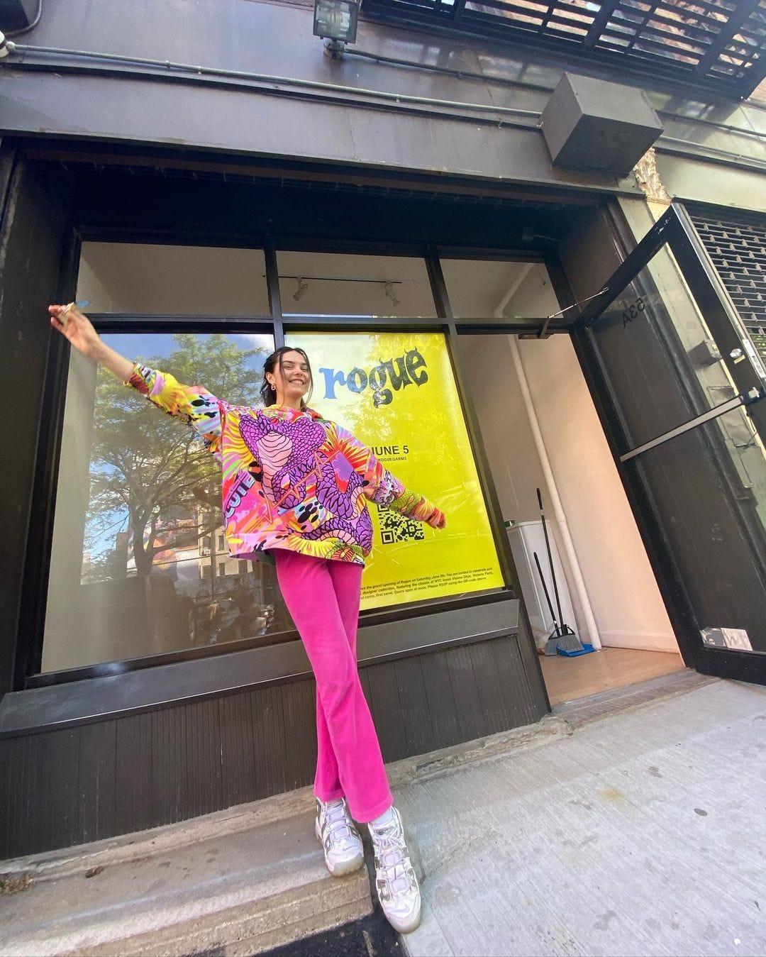 Emma Rogue at her Manhattan thrift store, Rogue