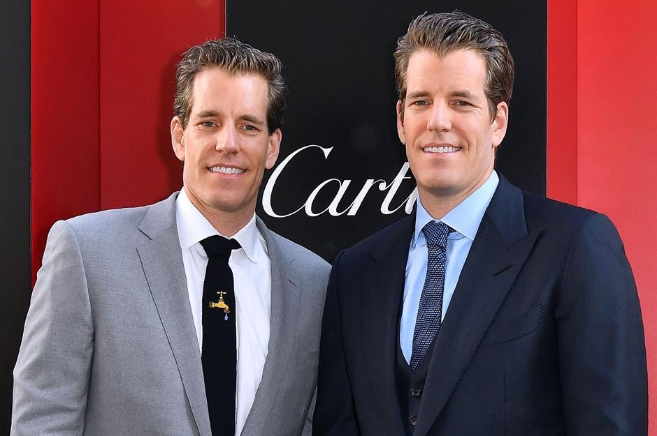 Bitcoin billionaires the Winklevoss twins, their net worth, and battle with  Facebook | lovemoney.com