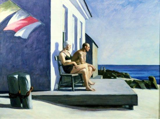 Sea Watchers, 1952 (oil on canvas)