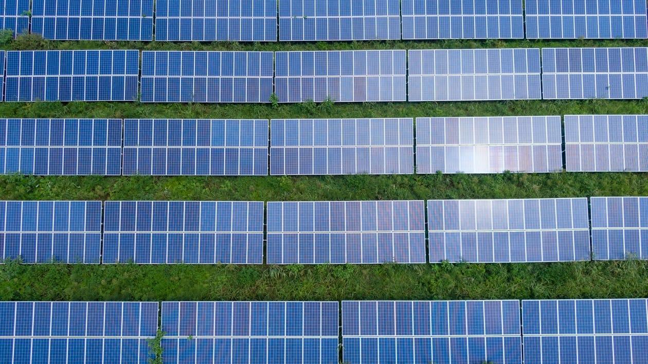 Foto De Vista Superior De Paneles Solares
