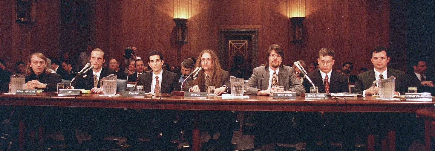 The Cybersecurity 202: These hackers warned Congress the internet was not  secure. 20 years later, their message is the same. - The Washington Post