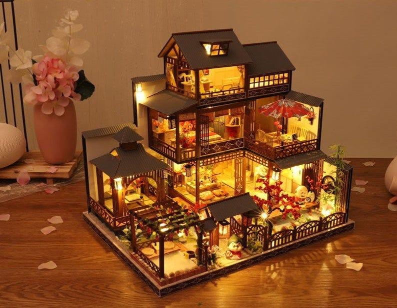 DIY Japanese Style Villa Wooden Miniature Doll House kit  image 0