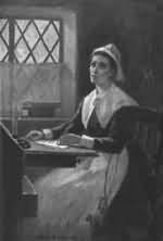 Sketch of Anne Bradstreet.