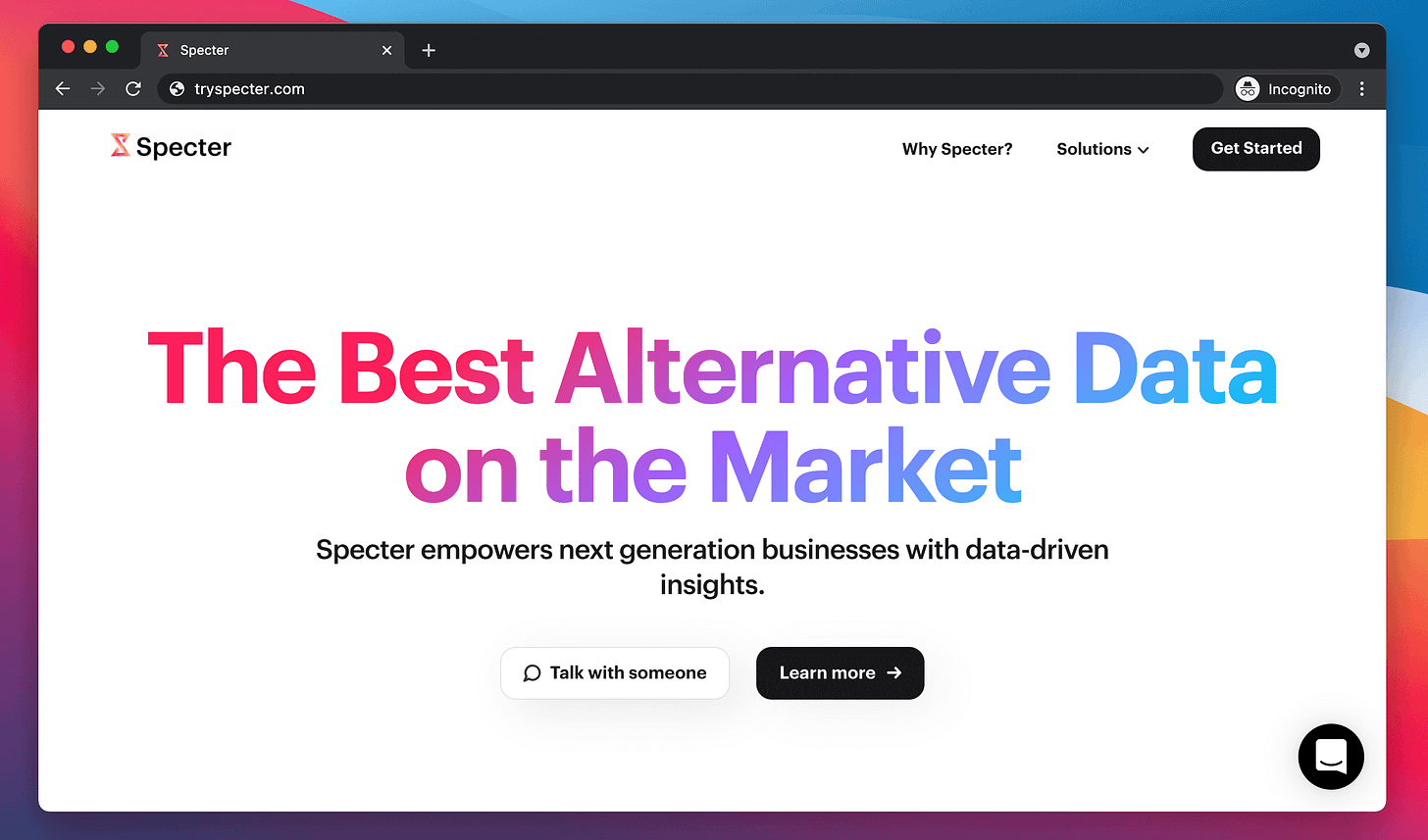 Specter New Website