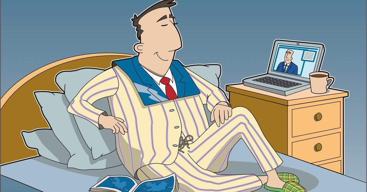 Image result for working in pajamas