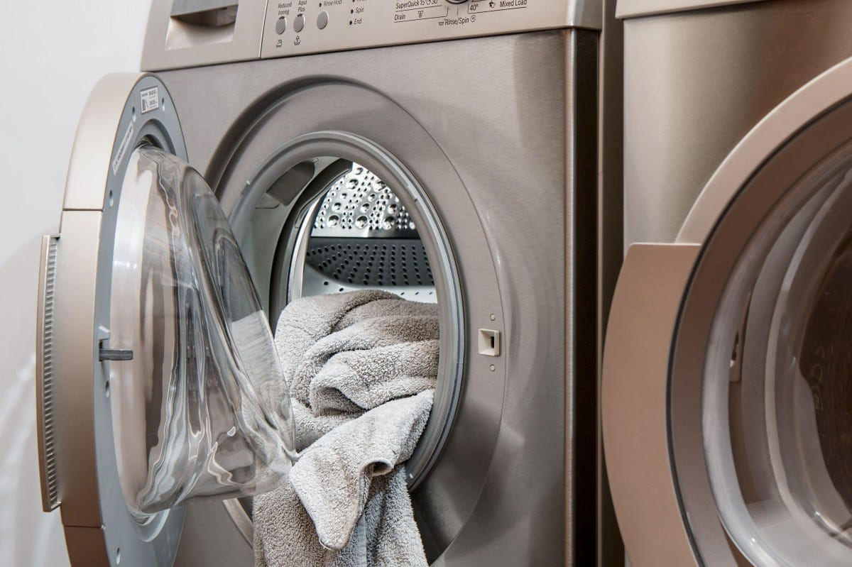 washing machine, laundry, clothes dryer, major appliance, laundry room, home appliance, washing, room, dry cleaning, architecture, arch