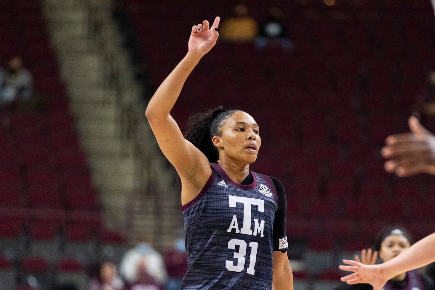 N'dea Jones. (photo courtesy of Texas A&M Athletics/Craig Bisacre & Bailey Orr)