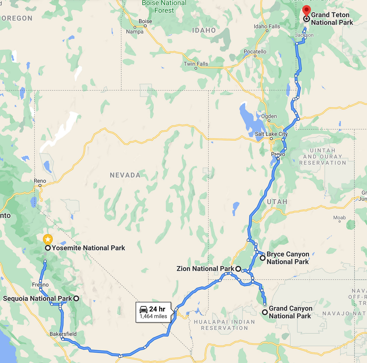 travel mentor road trip itinerary